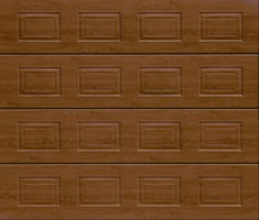 Garador Sectional Garage Door Georgian Dark Oak