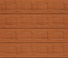 Garador Sectional Garage Doors Georgian Golden Oak