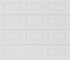 Garador Sectional Garage Door Georgian Medium in Gloss White