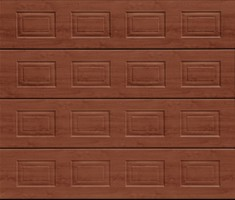 Garador Sectional Garage Door Georgian Rosewood