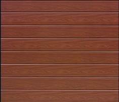 Garador Sectional Garage Door Linear Rosewood