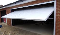 Double width up and over steel garage door