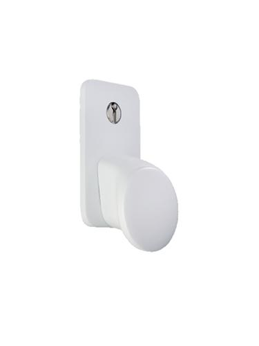White, Cast Aluminium - Garador Sectional Garage Door Handle