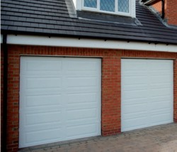 Gliderol Hampton Sectional Garage Door located on a house
