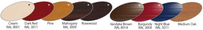 gliderol insulated roll-a-glide laminate woodgrain finishes