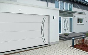 matching sectional garage door and front door
