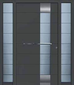 CH703 anthracite finish with side elements with designer glass