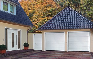 matching front door side door and garage doors