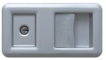 White Aluminium RAL 9006 Handle for Hormann HST Side Sliding Garage Door