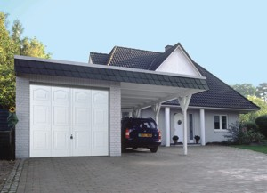 hormann white up and over garage door