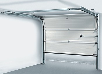 Sectional overhead door inside