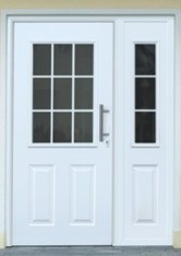 classic range door with half glazed side element