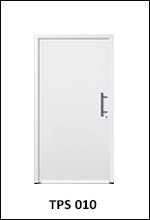 Hormann Thermopro TPS 010 plain white front entrance door solid panel infill smooth surface