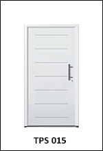 Hormann Thermopro TPS 015 steel front door for the home horizontal ribbed panel design