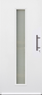 hormann thermopro tps 020 white door with central horizontal glass glazed strip
