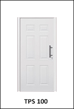 hormann front entrance door for the home steel thermopro style tps 100 plain white stylish
