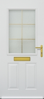 hormann tps 310 with letterbox and gold framed glazing section