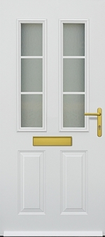 hormann tps 400 traditional steel door design with 2 sections of glass glazing ideal for the home