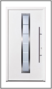 Hormann TPS 700 steel entrance door with sectioned central glass panel