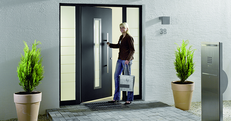 Hormann Thermo 65 700 Entrance Door in Anthracite Grey