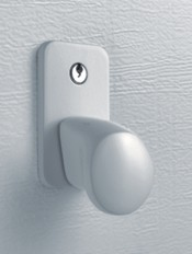 White Cast Aluminium Handle for Hormann LTH Nordic Pine Sectional 404
