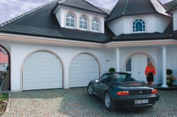 Hormann Sectional Garage Doors  installed on arched opening