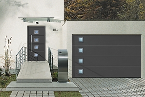 anthracite matching front entrance and garage door
