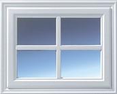 Hormann 2304 Georgian with windows crossed design