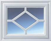 Hormann 2304 Georgian with window diamond design