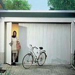 side hinged garage door for easy pedestrian use