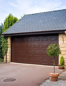 brown sectional garage door