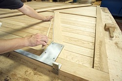 Oak manufactured garage doors