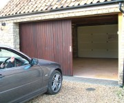 Timber Round the Corner garage doors