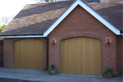 rundum meir round the corner garage door in arched openings