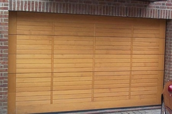 timber sectional garage door