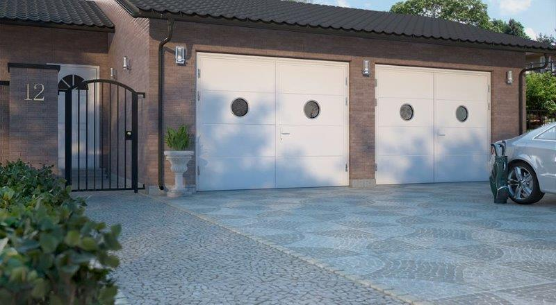 Matching side hinged doors