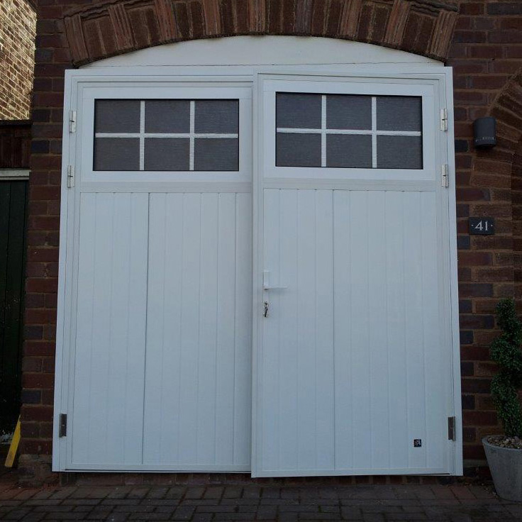 Double Hinged Garage Doors : Ryterna side hinged steel the garage