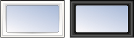 White or Black Plastic Ryterna Windows