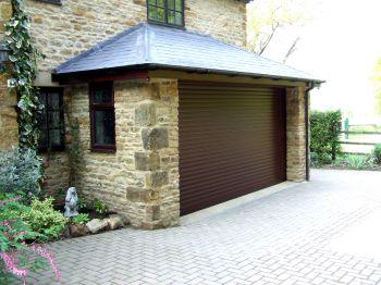 Brown Seceuroglide Roller Garage Door In Great Billing, Northamptonshire