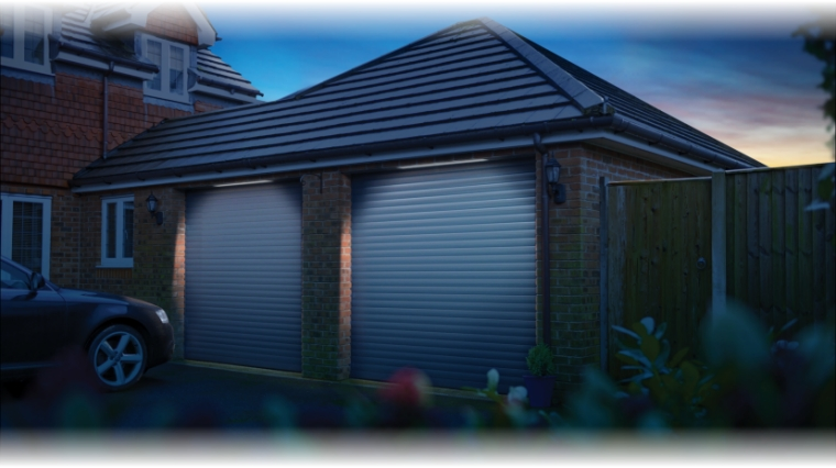 SWS seceuroglide roller shutter lighting