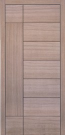 Silvelox GEO Entrance Doors with horizontal and vertical panels