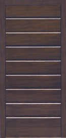 Silvelox Timber Entrance Door - OLD, horizontal ribbed design full length