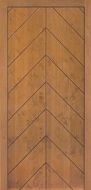 Silvelox SPI entrance door with chevron design