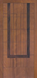 Silvelox TAU entrance door with dark wooden design