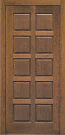 Silvelox TOP entrance door with square panelled timber designs