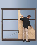 DIY garage doors for timber doors