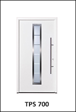 Hormann Thermopro TPS 700 Steel Front Entrance Door with vertical glazing window panel