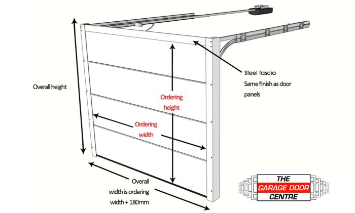 Garage door sizes guide up and over doors roller for Standard garage door measurements
