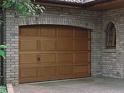 Hormann LTH V panel Hemlock timber sectional garage doors