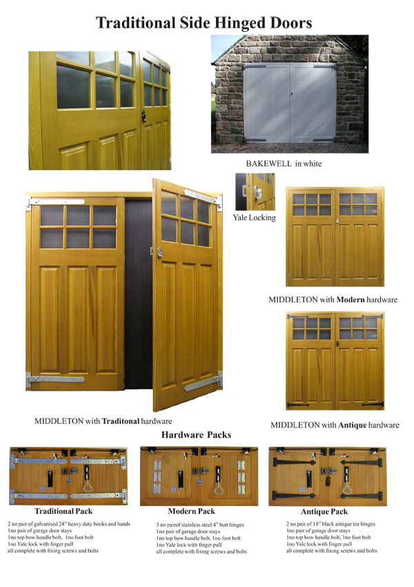 Timber Side Hinged Doors The Garage Door Centre